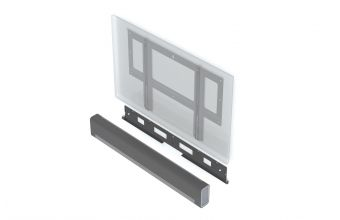 Flexson Flat to Wall Mount for TV and Sonos Playbar (Black)