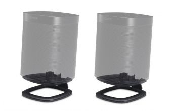 Flexson Desk Stand Pair for Sonos One, PLAY 1 and One SL (Black)
