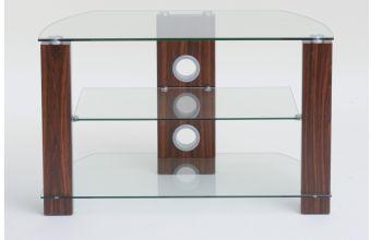 TTAP Vision 1050 3 Shelf (L630-1050-3WC) (Walnut/Clear)