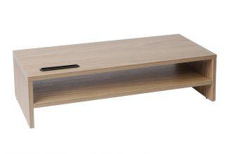 TTAP Screen Riser Double Shelf (MP1009) (Oak)