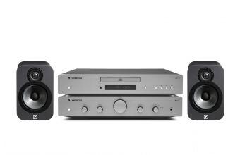 Cambridge Audio AXA25, AXC25 (Lunar Grey) & Q Acoustics 3020 (Graphite)