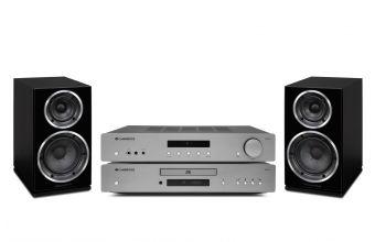 Cambridge Audio AXA35, AXC35 (Lunar Grey) & Wharfedale DIAMOND 220 (Black)
