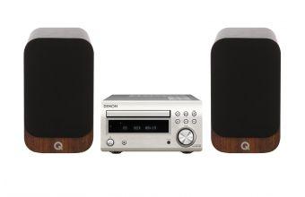 Denon DM41 DAB (Silver) & Q Acoustics Q3020I (Walnut)