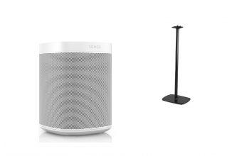 Sonos One Gen 2 (White) & Flexson S1FS (Black)