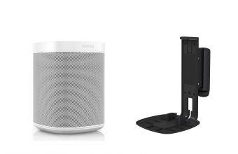 Sonos One Gen 2 (White) & Flexson S1WM (Black)