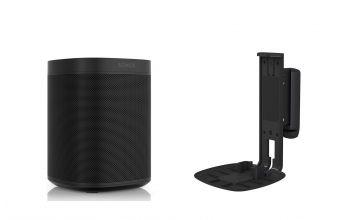Sonos One Gen 2 & Flexson S1WM (Black)