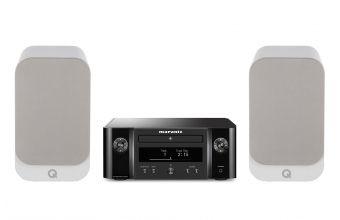 Marantz Melody M-CR412 (Black) & Q Acoustics Q3010i (White)