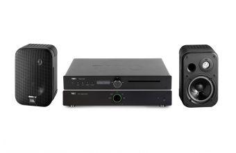 Tibo TI435AMP, TI435CDP & JBL Control 1 (Black)