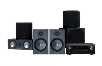 Denon AVC-X3700H, Monitor Audio Bronze 100, Bronze C150, Bronze FX 6G & W10 6G (Black)