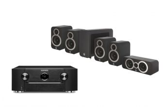 Marantz SR6015, Q Acoustics Q3010i (X2), 3060S & Q3090Ci (Black)