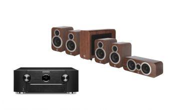 Marantz SR6015 & Q Acoustics Q3010i (X2), 3060S & Q3090Ci (Walnut)