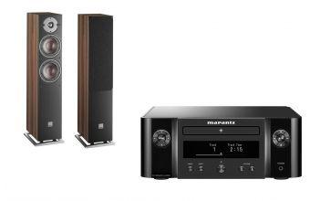 Marantz Melody X M-CR612 (Black) & DALI OBERON 5 (Dark Walnut)