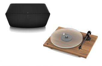 Pro-Ject T1 Phono SB (Walnut) & Sonos Five (Black)