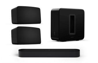 Sonos Beam Gen 2, Five & Sub Gen 3 (Black)