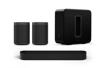 Sonos Beam Gen 2, One SL (x2) & Sub Gen 3 (Black)