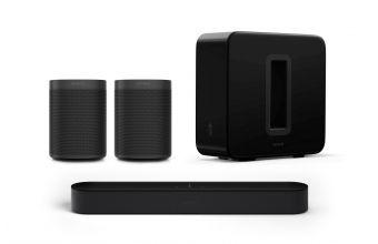 Sonos Beam Gen 2, One Gen 2 (x2) & Sub Gen 3 (Black)
