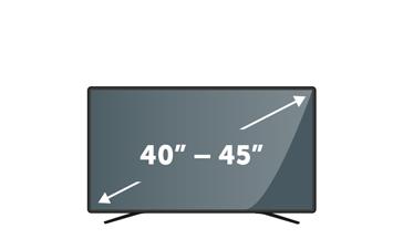 "TVs 40"" to 45"""