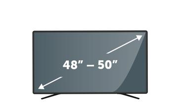 "TVs 48"" to 50"""