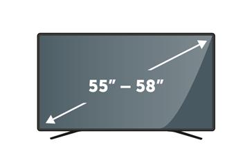 "TVs 55"" to 58"""