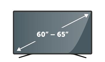 "TVs 60"" to 65"""