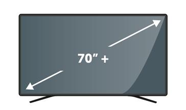 "TVs 70"" plus"
