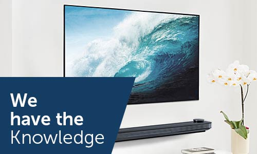 We have the knowledge on TVs & projectors