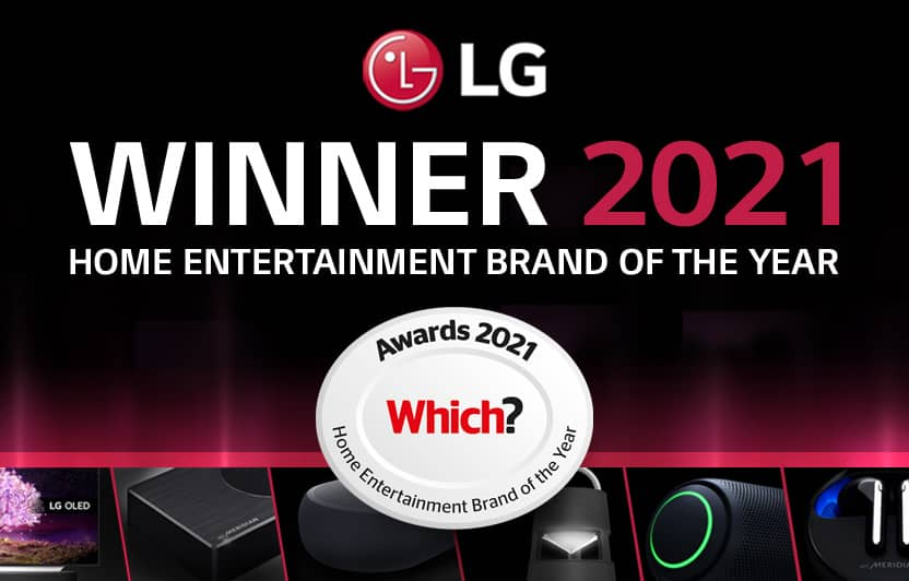 LG Which? home entertainment brand of the year 2021