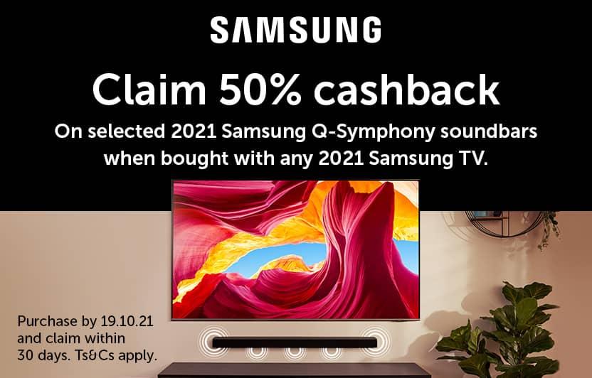 Samsung soundbar 50% cashback