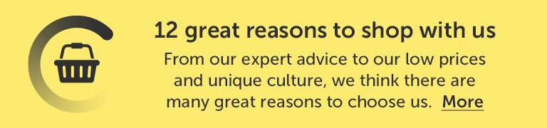 12 great reasons to shop with us