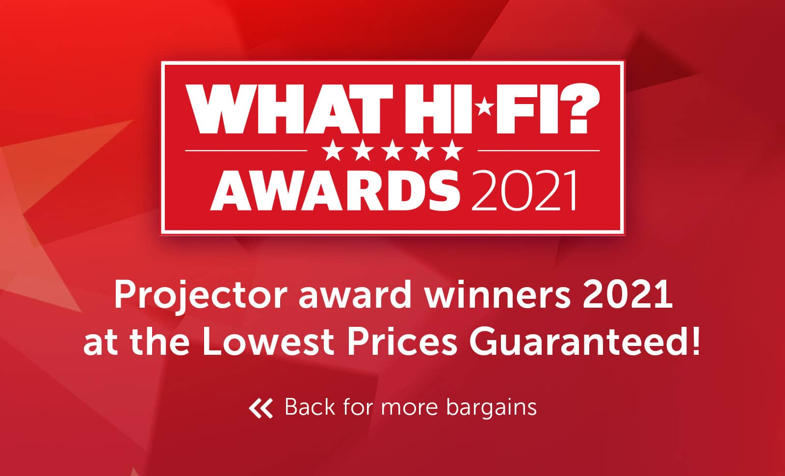 What Hi-Fi? Best Buy Awards 2021 - Projector