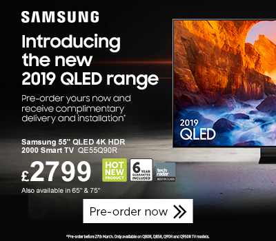 Samsung 2019 QLED free delivery and install offer
