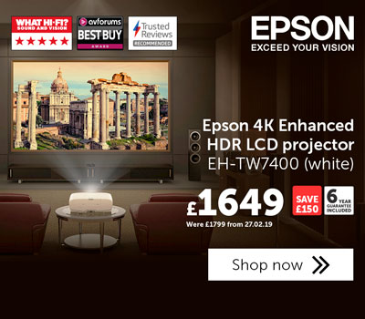 Epson EHTW7400 projector