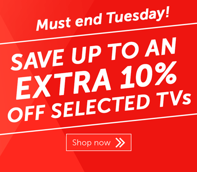 Save up to 10% on selected TVs
