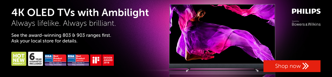 Philips 4K OLED TVs with ambilight