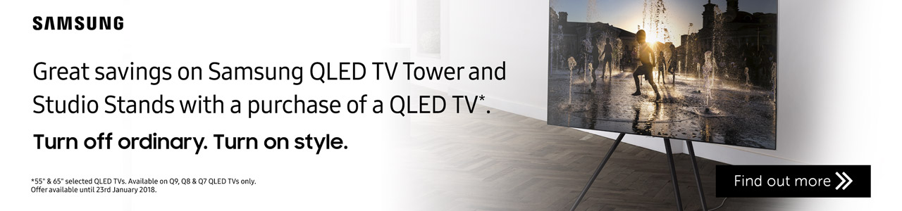 Samsung QLED TV Tower