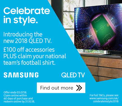 Samsung World Cup QLED promo