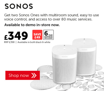 Save £49 on Sonos One bundle