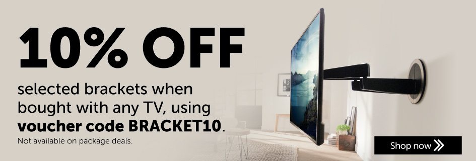 10% off selected TV brackets