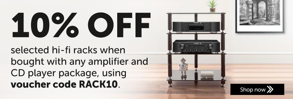 10% off selected hi-fi racks