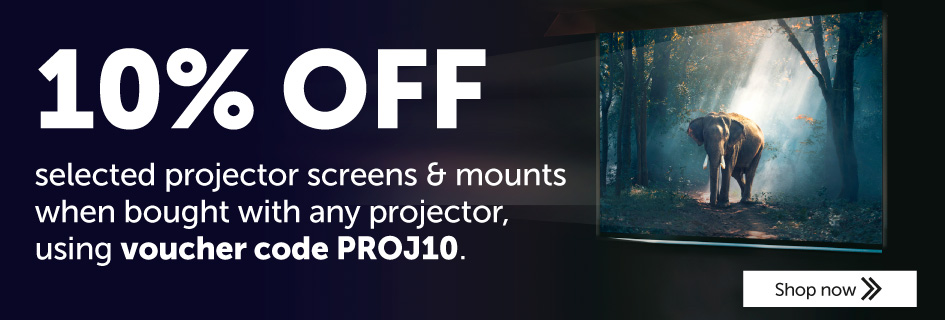 10% off selected projector screens and mounts
