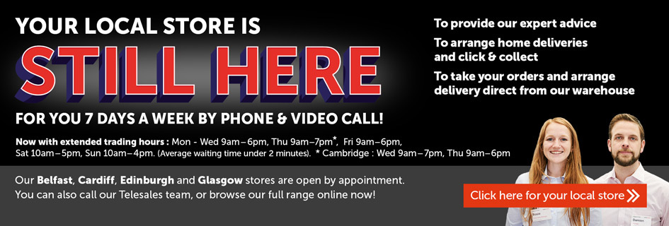 Your local store is still here for you 7 days a week by phone