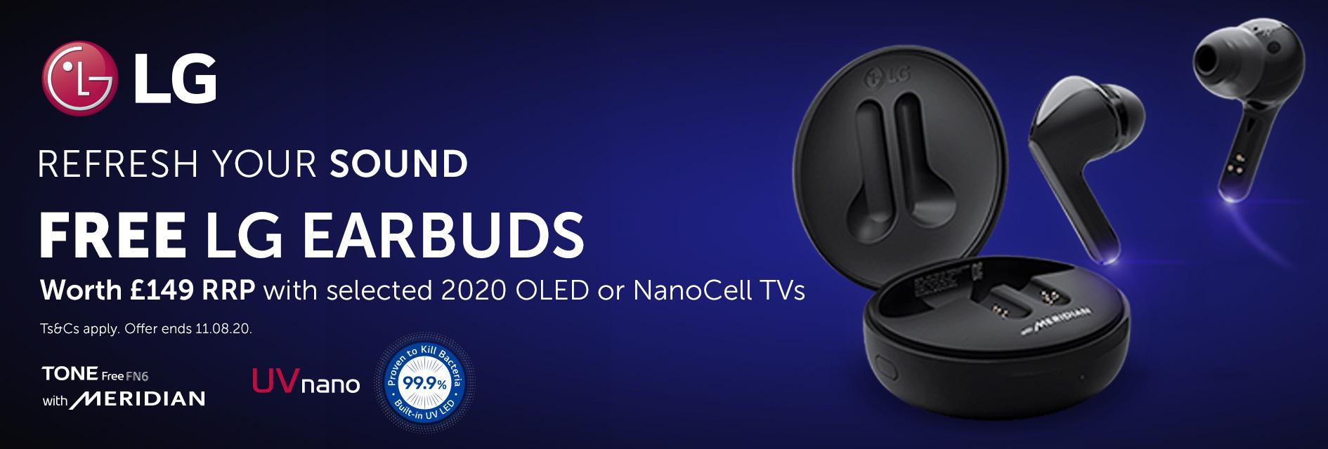 LG Free earbuds worth £149