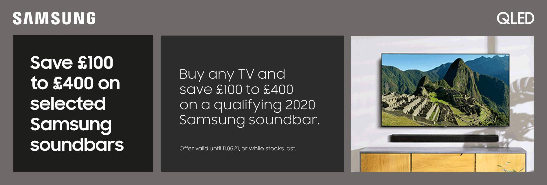Samsung soundbar saving 03/21