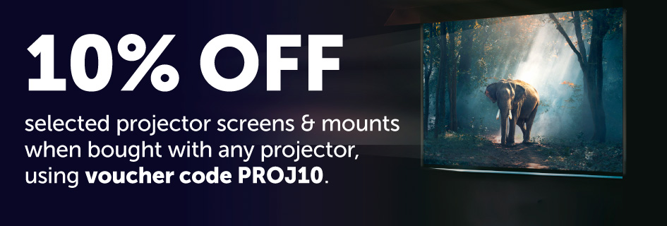 10% off selected projector screens