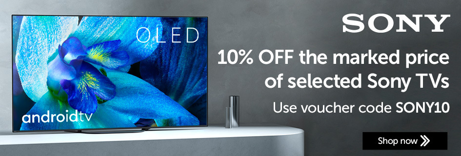 10% OFF selected Sony TVs