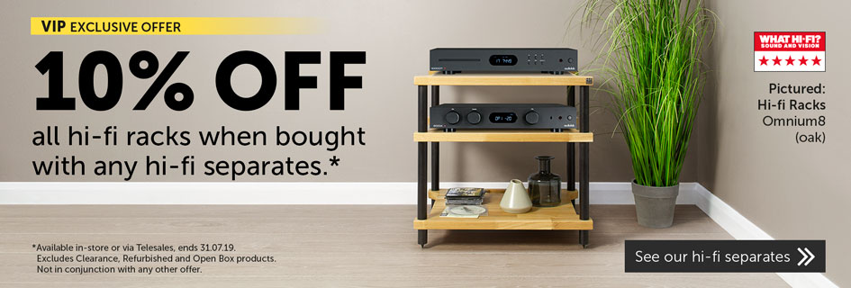 10% off hi-fi racks