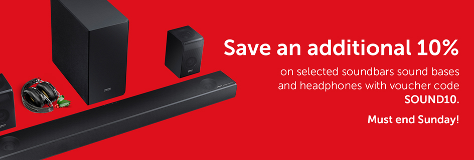 10% off soundbars & headphones