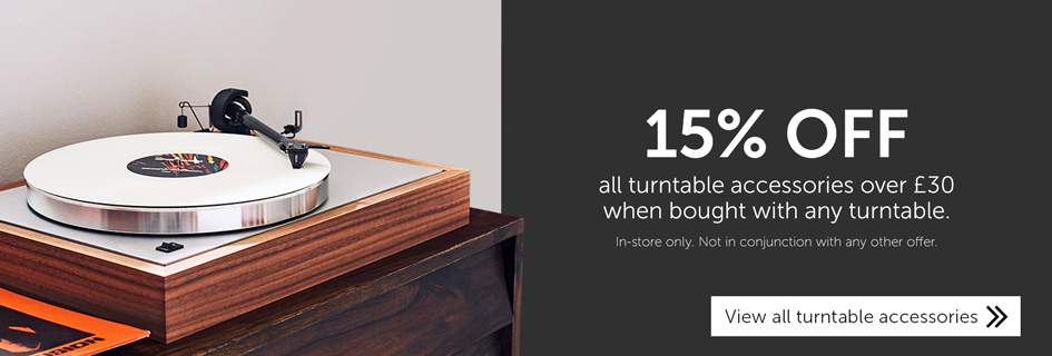15% off turntable accessories