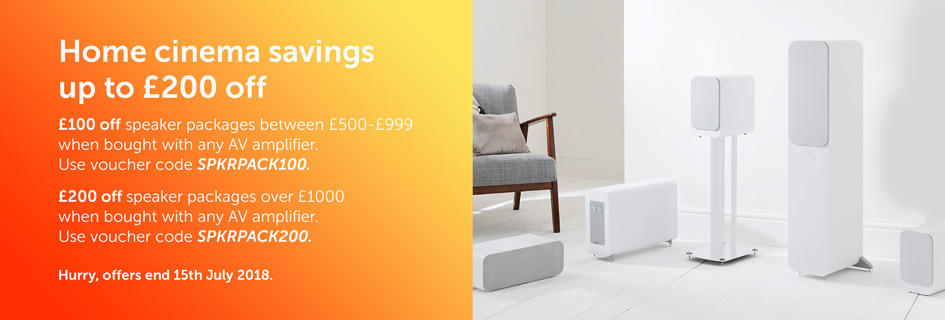 Up to £200 off home cinema