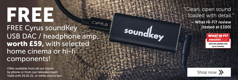Free Cyrus soundKey USB DAC / headphone amplifier